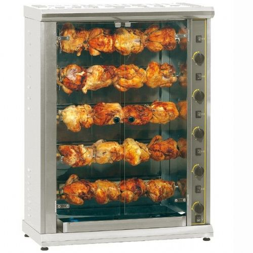 Roller Grill RBG200 Five Spit Large Gas Rotisserie Rotisseries